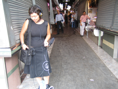 Somaya - recording in the market off Las Ramblas